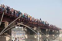 Bangladeshi Muslim devotees return home  after the World Congregation of Muslims, or Biswa Ijtema, on the outskirts of  Dhaka, Bangladesh. Jan 11, 2015