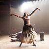 Carmen Disruption <br /> at Almeida Theatre, London, Great Britain <br /> press photocall<br /> 16th April 2015 <br /> <br /> Viktoria Vizin as The Chorus <br /> <br /> <br /> Photograph by Elliott Franks <br /> Image licensed to Elliott Franks Photography Services
