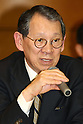 Apr. 27, 2010 - Tokyo, Japan - Toshishige Hamano, Representative Directors and Executive Vice Presidents of Sharp, delivers a speech during a press-conference in Tokyo, on April 27, 2010. The Osaka-based electronics company said it expects Y52bn ($554m) operating profit, reversing a Y55bn operating loss last year, and Y4.4bn in net income, thanks of growing demand for its 3D liquid crystal display panels.