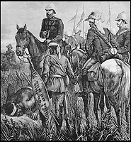 BNPS.co.uk (01202 558833)<br /> Pic: AmberleyBooks/BNPS<br /> <br /> The King Hunt - a guide listens for sounds of the enemy.<br /> <br /> The remarkable untold story of an epic battle between the British and a resilient native mountain tribe called the Bepadi which brought a definitive end to the Zulu War has been revealed in a new book.<br /> <br /> Much has been written about the famous British rearguard of Rorke's Drift in January 1879 but there was another significant battle 11 months later - at Fighting Kopke - which has been completely overlooked until now.<br /> <br /> Following the British annexation of the Transvaal in 1877, the Bapedi tribe and the British were at loggerheads for two years with the Bapedi getting the upper hand in several skirmishes.<br /> <br /> The conflict came to a head in a fierce four day battle at Fighting Kopke where the Bapedi were finally defeated by British troops and their Swazi allies under the command of Sir Garnet Wolseley in November 1879.