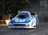Jun 3, 2016; Epping , NH, USA; NHRA funny car driver Bob Tasca III during qualifying for the New England Nationals at New England Dragway. Mandatory Credit: Mark J. Rebilas-USA TODAY Sports