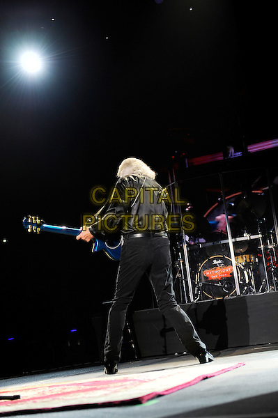 Barry Gibb <br /> performing in concert on the first date of the UK 'Mythology' Tour, LG Arena, Birmingham, England, UK, 21st September 2013.<br /> music live on stage gig full length playing guitar black shirt back rear behind <br /> CAP/MAR<br /> &copy; Martin Harris/Capital Pictures