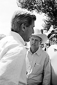 Smithville, Kansas.Nelson farm.August 6, 2004..Democrtaic Presdentual nominee Sen. John Kerry and his VP running mate John Edwards and their wives visit a family farm in Kansas. ..