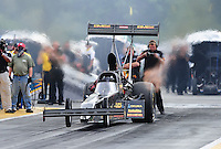 Aug. 7, 2011; Kent, WA, USA; NHRA top fuel dragster driver Troy Buff during the Northwest Nationals at Pacific Raceways. Mandatory Credit: Mark J. Rebilas-