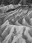A maze of wildly eroded badlands near Zabriskie Point in Death Valley