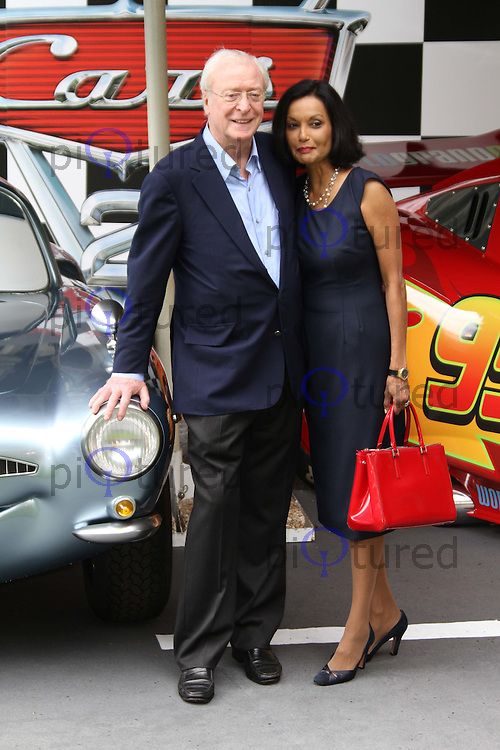 Michael Caine; Shakira Caine Cars 2 UK Premiere, Whitehall Gardens, London, UK, 17 July 2011:  Contact: Rich@Piqtured.com +44(0)7941 079620 (Picture by Richard Goldschmidt)