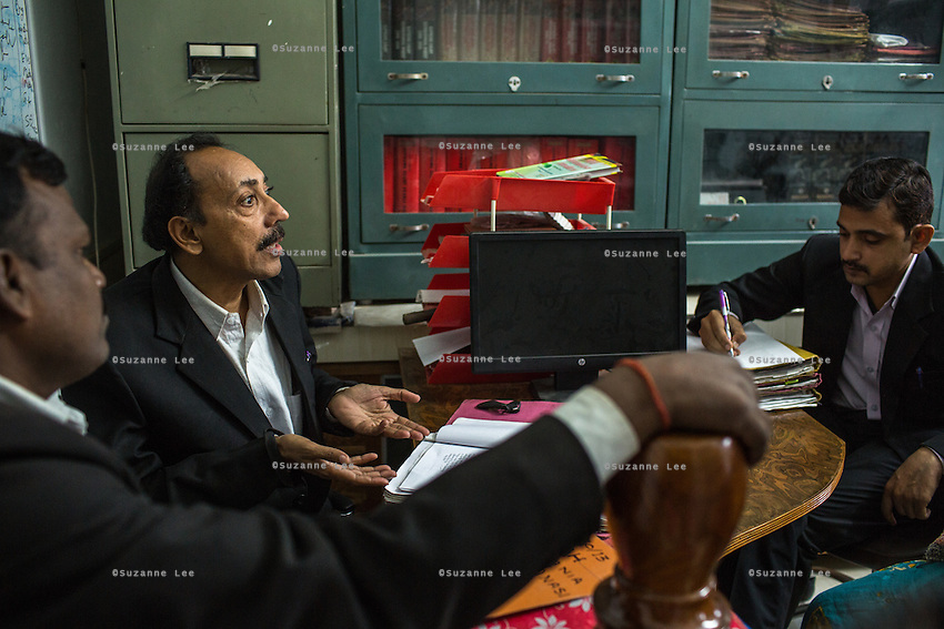 The senior lawyer and the Guria legal team prepares Brinda to fight the defending lawyers during her final witness court appearance in the Guria office in Varanasi, Uttar Pradesh, India on 23 November 2013. She is one of the 57 underaged and trafficked girls rescued from the Shivdaspur red light area in Varanasi, who has been fighting a court case against her traffickers and brothel owners for the past 8 years.
