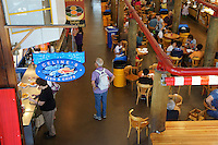 Food court at the Granville Island Public Market, Vancouver, British Columbia, Canada