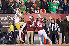 Oct. 31, 2015; Wide receiver William Fuller (7) catches the game-winning touchdown against Temple. Notre Dame won 24-20. (Photo by Matt Cashore)
