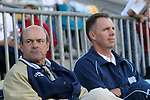 UNC assistant coaches Bill Palladino (l) and Chris Ducar on Friday, November 4th, 2005 at SAS Stadium in Cary, North Carolina. The University of North Carolina Tarheels defeated the Duke University Blue Devils 2-1 in their Atlantic Coast Conference Tournament Semifinal game.