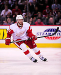 21 November 2009: Detroit Red Wings' left wing forward Ville Leino in action against the Montreal Canadiens at the Bell Centre in Montreal, Quebec, Canada. The Canadiens, wearing their original season 1909-10 throwback uniforms fell to the visiting Red Wings in a 3-2 shootout. Mandatory Credit: Ed Wolfstein Photo
