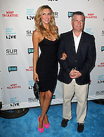 Brandi Glanville &amp; guest.Bravo's Andy Cohen's Book Release Party For &quot;Most Talkative: Stories From The Front Lines Of Pop Held at SUR Lounge, West Hollywood, California, USA..May 14th, 2012.full length black dress pink shoes suit jacket white shirt beige trousers.CAP/ADM/KB.&copy;Kevan Brooks/AdMedia/Capital Pictures.