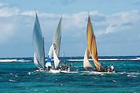 Mauritius.. Pirogue regatta,