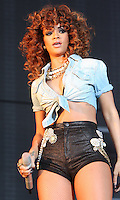Chelmsford, Essex - Rihanna performs on Day Two of the  V Festival at Hylands Park, Chelmsford, Essex - August 20th 2011..Photo by Keith Mayhew