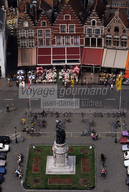 Europe/Belgique/Flandre/Flandre Occidentale/Bruges : La Grand-Place
