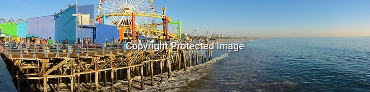 Panorama photo of Santa Monica California