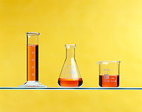 SAME VOLUME OF LIQUID IN DIFFERENT CONTAINERS<br />