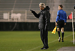 13 November 2009: Boston College head coach Ed Kelly. The North Carolina State University Wolfpack defeated the Boston College Eagles 1-0 at WakeMed Stadium in Cary, North Carolina in an Atlantic Coast Conference Men's Soccer Tournament Semifinal game.