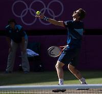 Andy Murray..Tennis - OLympic Games -Olympic Tennis -  London 2012 -  Wimbledon - AELTC - The All England Club - London - Thursday 2nd August  2012. .© AMN Images, 30, Cleveland Street, London, W1T 4JD.Tel - +44 20 7907 6387.mfrey@advantagemedianet.com.www.amnimages.photoshelter.com.www.advantagemedianet.com.www.tennishead.net