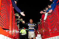 Anthony Watson of Bath Rugby leaves the field after the match. Aviva Premiership match, between Gloucester Rugby and Bath Rugby on March 26, 2016 at Kingsholm Stadium in Gloucester, England. Photo by: Patrick Khachfe / Onside Images