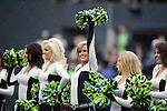 Seattle Seahawks Seagals perform during a time out in their game against the New Orleans Saints during the 2nd round in a NFL Western Division playoff game at CenturyLink Field in Seattle, Washington on January 11, 2014.  Seahawks beat the Saints 22-15 to take home-field advantage in the NFL Championship Game. ©2014. Jim Bryant Photo. ALL RIGHTS RESERVED.11