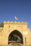 Israel, Jezreel valley, the gate to the Franciscan Church of the Transfiguration on Mount Tabor