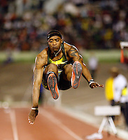 Walter Davis had a mark of 7.04m at the Jamaica International Invitational Meet on Saturday, May 3rd. 2008. Photo by Errol Anderson, The Sporting Image.