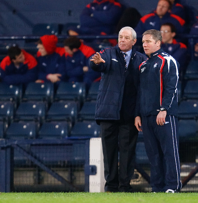 Walter Smith and Ally McCoist plot the downfall of their opponents