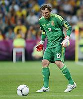 FUSSBALL  EUROPAMEISTERSCHAFT 2012   VORRUNDE Ukraine - Frankreich               15.06.2012 Torwart Andriy Pyatov (Ukraine)