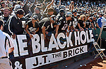 The Black Hole Raiders fans on Sunday, September 19, 2004, in Oakland, California. The Raiders defeated the Bills 13-10.