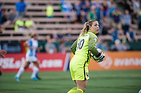 Seattle, WA - Sunday, May 21, 2017: Caroline Stanley during a regular season National Women's Soccer League (NWSL) match between the Seattle Reign FC and the Orlando Pride at Memorial Stadium.