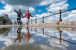 Cumulus Cowes. Wonderful clouds and reflections at Cowes on the Isle of Wight