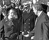 "Washington, DC - (FILE) -- Prime Minister Margaret Thatcher of the United Kingdom, left, is welcomed to the White House in Washington, D.C. by United States President Jimmy Carter, right, on Monday,December 17, 1979. It was Mrs. Thatcher's first trip to the United States as Prime Minister..Credit: Benjamin E. ""Gene"" Forte - CNP"