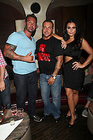 JWOWW, Roger Matthews and Anthony Cracchiolo  attend Inked Magazine release party celebrating August issue, New York. July 17, 2012 © Diego Corredor/MediaPunch Inc.
