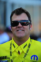 May 6, 2012; Commerce, GA, USA: NHRA pro stock driver Jeg Coughlin during the Southern Nationals at Atlanta Dragway. Mandatory Credit: Mark J. Rebilas-
