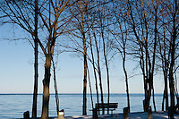 Looking north across Lake Ontario from Niagara-on-the-Lake. January 15, 2012. © Allen McEachern.