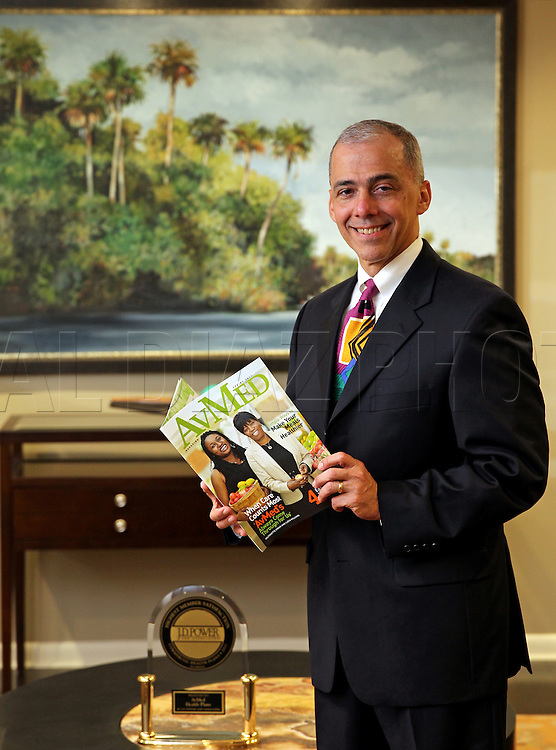 "Javier Mendoza, Vice President, Strategic Marketing, at AvMed Health Plans on Tuesday, October 9, 2012. Florida's insurance industry is positioning itself to handle changes in Medicare and more emphasis on individual insured as opposed to group and business insured. Florida Blu is ahead of the pack with a few insurance ""stores"" to help people make the best choices."