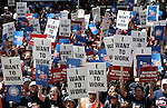 Aug. 13, 2010 - Los Angeles, California, USA - Hundreds of people rallied at Los Angeles City Hall on Friday seeking support of bills intended to create jobs. Sen. Barbara Boxer, Mayor Antonio Villaraigosa and AFL-CIO President Richard Trumka were among the elected officials and labor leaders who spoke at the rally.