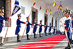 Palace guard at Quito Presidential Offices