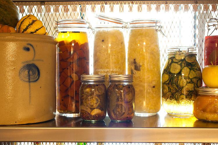 House made pickled vegetables in the kitchen at Grüner, Chris Israel's newest Portland Restaurant.