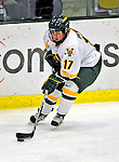 21 February 2009: University of Vermont Catamounts' forward Kyleigh Palmer, a Freshman from Winnipeg, Manitoba, in action against the University of Maine Black Bears at Gutterson Fieldhouse in Burlington, Vermont. The Catamounts shut out the Black Bears 1-0. Mandatory Photo Credit: Ed Wolfstein Photo