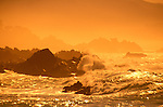 California: Monterey.  Waves at Pebble Beach.  Photo camont102.  Photo copyright Lee Foster, 510/549-2202, lee@fostertravel.com, www.fostertravel.com