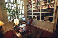 22 Jul 2000, Austin, Texas, USA --- Original caption: Governor George W. Bush in his office at the Governor's Mansion. --- Image by © Brooks Kraft/Sygma/Corbis