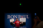Rita Harris poses for a photo at rally for GOP presidential candidate Rep. Ron Paul at the Grand Sierra Resort in Reno, Nev., February 2, 2012.