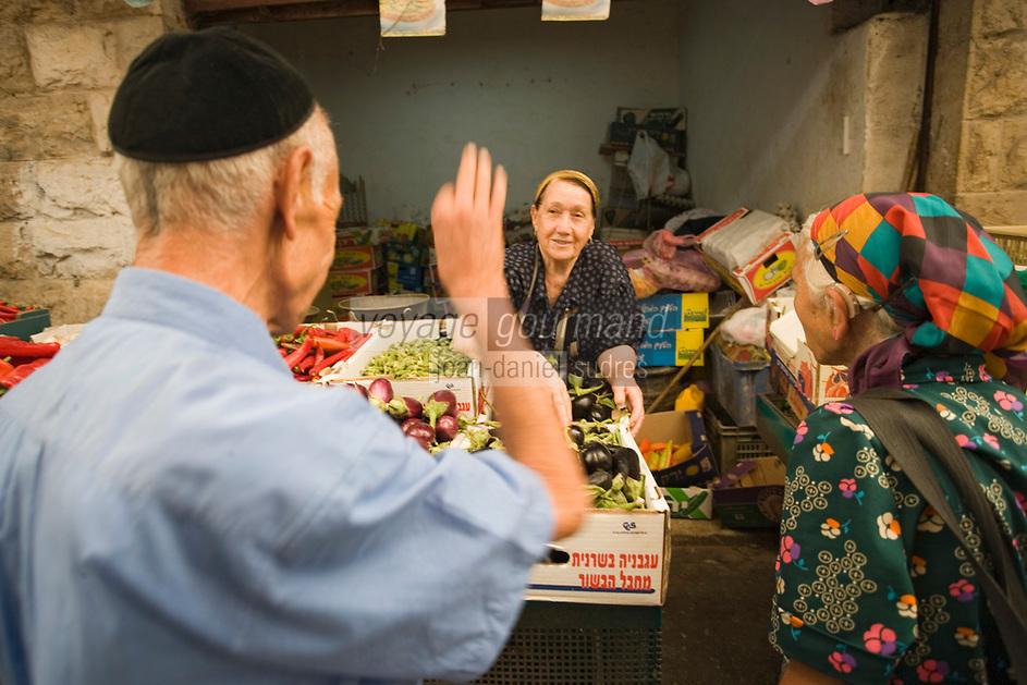 Asie/Israël/Judée/Jérusalem détail: marché Mahane Yehuda un des marchés les plus importants de la a ville