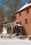 Grist mill in snow Commonwealth of Virginia, Fine Art Photography by Ron Bennett, Fine Art, Fine Art photography, Art Photography, Copyright RonBennettPhotography.com ©