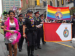 Police participating in Gay and lesbian Pride parade in Toronto Ontario Canada 2009