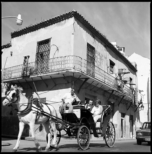 Horse and Carriage Carrying Tourists, Old Havana, Cuba by Paul Cooklin