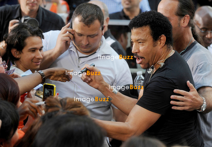 "Lionel Richie performs on ""The Today Show"", in New York City..New York, August 16, 2012."