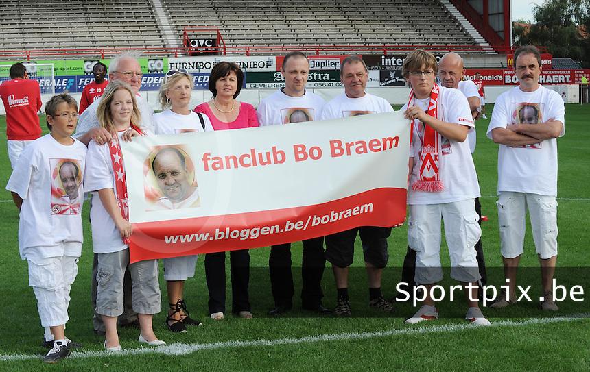 Bo Braem Cup : KV Kortrijk - Lille OSC.herinnering aan Bo Braem voor de match .foto VDB / BART VANDENBROUCKE